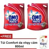 Bán Bộ 2 Nước Giặt Omo Mactic Cửa Tren 2 7Kg Tặng Tui Comfort Cho Da Nhạy Cảm 800Ml Rẻ Nhất