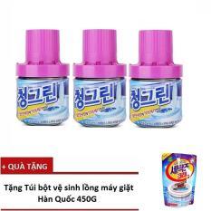 Hình ảnh Bộ 3 chai thả bồn cầu hương Lavender - Sản xuất tại Hàn Quốc - 400G/Chai + Tặng 1 Túi tẩy vệ sinh lồng giặt Hàn Quốc