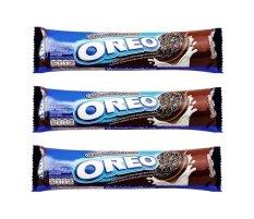 Hình ảnh Bộ 3 gói bánh quy nhân kem sô cô la Oreo 137g