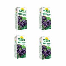 Mua Bộ 4 Hộp Nước Nho Ep Hộp Giấy Vinamilk Vfresh 100 1L Vinamilk Nguyên