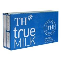 Bộ 48 Hộp Sữa Tươi Tiệt Trùng TH True Milk Ít Đường 110ML