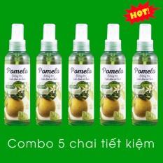 Bộ 5 Chai Tinh Dầu Bưởi Xịt Tóc Pomelo Cocoon 130ml x 5