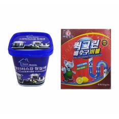 Hình ảnh Bộ Bột thông tắc ống nước, bồn cầu Hàn Quốc và Hộp kem tẩy rỉ kim loại đa năng
