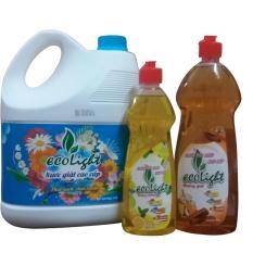 Giá Bán Bộ Combo Nước Giặt Hương Comfort Nước Rửa Chen Tinh Dầu Quế Cao Cấp Ecolight Ecolight