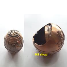 Bộ Gạt tàn thuốc và Lọ đựng tăm chất liệu hợp kim, thiết kế tinh xảo, mầu đồng cổ điển, sang trọng -NPP HS shop Nhật Bản