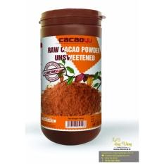 Bột cacao nguyên chất không đường- Cacao4u hũ 440gr