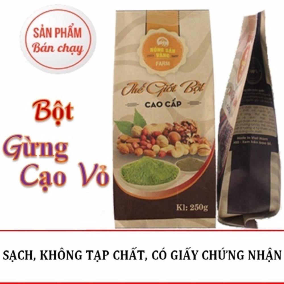 Bán Bột Gừng Cạo Vỏ Nong Sản Vang 250Gr
