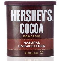 Bột sôcôla Herschey's 100% cacao tự nhiên không chất làm ngọt 226gr