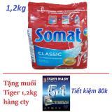 Giá Bán Bột Somat 1 2Kg Nk Đức Tặng 1 2Kg Muối Tiger Cho May Rửa Chen Bat Rẻ