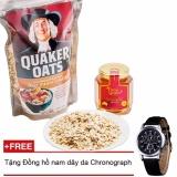 Mua Bột Yến Mạch Quaker Oats 500G Tặng Đồng Hồ Nam Day Da Rẻ Hà Nội