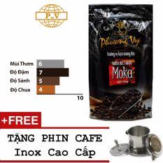 Cà phê Buôn Mê Thuột Moka 500g - Phương Vy + Tặng Phin Inox Cao Cấp