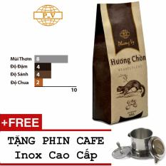 Cà phê Robusta Hương Chồn 500g - Phương Vy + Tặng Phin Inox Cao Cấp