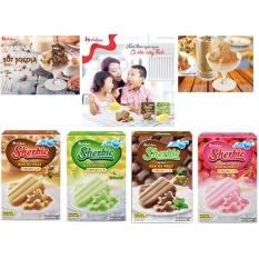 Combo 04 hộp Bột làm kem đá Nhật Bản Shirbie - House Foods