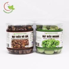 Ôn Tập Tốt Nhất Combo 1 Hộp Hạt Điều Wasabi 230G Va 1 Hộp Hạt Điều Rang Muối Vỏ Lụa Greend Food Thượng Hạng 250G