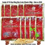 Combo 10 Kẹo Hồng Sam Vitamin 6 Năm Tuổi Korea Han Quốc 200G Goi Hàn Quốc Chiết Khấu 30