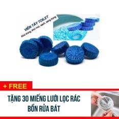 Mua Combo 100 Vien Tẩy Khử Mui Bồn Cầu Toilet Tặng 30 Tui Lưới Lọc Rac Bồn Rửa Rẻ Trong Hà Nội