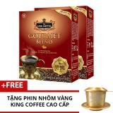 Bán Combo 2 Hộp King Coffee Gourmet Blend 500 G Tặng 1 Phin Nhom Vang Cao Cấp