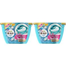 Mã Khuyến Mại Combo 2 Hộp Nước Giặt Gel Ball 3D 4 Trong 1 Phien Bản 2018 Nhật Bản Xanh P G