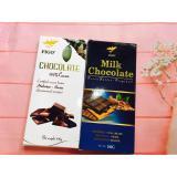 Combo 2 Thanh Chocolate Đắng 100 Cacao Sữa 40 Cacao 200G Figo Chocolate Figo Chiết Khấu 50