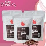 Mua Combo 3 Goi Ca Phe Hạt Nguyen Chất Phối Trộn Mạnh Mẽ Chua Thanh Phối Chuẩn Light Coffee 250Gr Goi Light Coffee