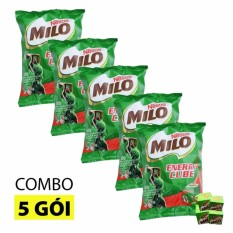 Hình ảnh Combo 5 bịch kẹo viên MILO CUBE 100 viên cho bé (275g)