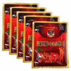 Combo 5 Gói Kẹo Hồng Sâm Hàn Quốc Korea Red Ginseng (200g)
