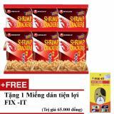Bán Bộ 6 Goi Banh Snack Tom Cay Nhập Khẩu Han Quốc Tặng Miếng Dan Đa Năng Fit It Rẻ Hồ Chí Minh