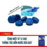 Mã Khuyến Mại Combo 60 Vien Tẩy Khử Mui Bồn Cầu Toilet Tặng 1 Vỉ 12 Que Thong Tắc Đường Ống Nước Bồn Rửa