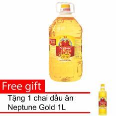 Giá Bán Dầu Ăn Neptune Gold 5L Tặng 1 Chai Dầu Ăn Neptune Gold 1L Nguyên