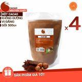 Chiết Khấu Sản Phẩm Giảm Gia Combo 4 Goi 2Kg Cacao Nguyen Chất 100 Light Cacao