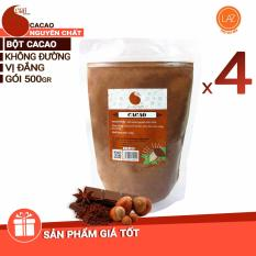 Giá Bán Giảm Gia Combo 4 Goi 2Kg Cacao Nguyen Chất 100 Light Cacao Light Coffee Nguyên