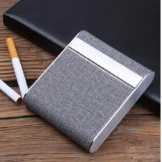 Hộp đựng thuốc lá 20 điếu cao cấp thời trang sang trọng F238 (Ghi) Nhật Bản