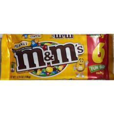 Kẹo chocolate sữa đậu phộng M&M 104gr Mỹ