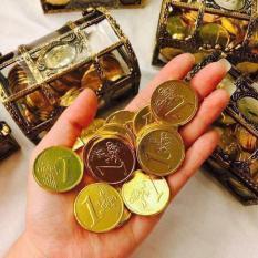 Hình ảnh Kẹo socola đồng tiền hộp rương vàng thần tài ngày tết