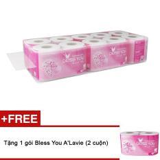 Lốc 10 cuộn giấy vệ sinh Bless You A'Lavie + Tặng gói 2 cuộn cùng loại