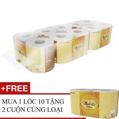 Hình ảnh Lốc 10 cuộn giấy vệ sinh - Bless You Lamour + Tặng 2 cuộn cùng loại