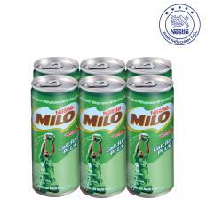 Lốc 6 Lon Nestlé MILO ® Uống Liền 6 lon x 240ml)