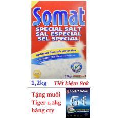 Cửa Hàng Muối Somat 1 2Kg Nk Đức Tặng 1 2Kg Muối Tiger Hang Cong Ty Cho May Rửa Chen Bat Rẻ Nhất