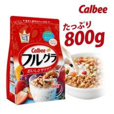 Date Mới Nhất T10.2018 Ngũ cốc Calbee Nhật Bản 800g