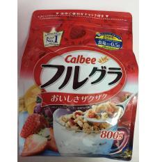 Ngũ Cốc Dinh Dưỡng Sấy Kho Dạng Hạt Cao Cấp Calbee Fruit Granola Cereal 800G Chiết Khấu Bình Dương