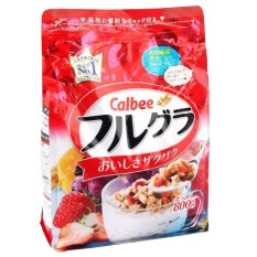 Giá Bán Ngũ Cốc Dinh Dưỡng Sấy Kho Dạng Hạt Cao Cấp Calbee Fruit Granola Cereal Goi 800G Rẻ