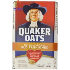Nửa thùng yến mạch Quaker oats (dạng cán mỏng) Old fashioned 4,5kg