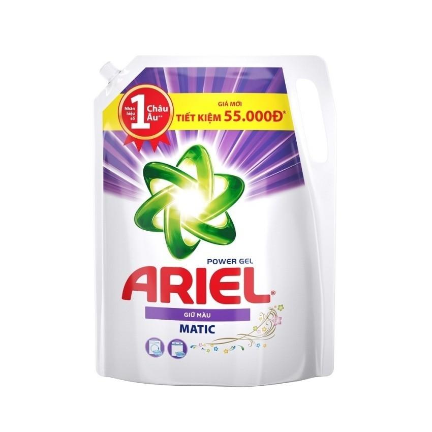 Nước giặt Ariel Matic Color gel đậm đặc 2.4kg (Dạng túi)