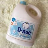 Ôn Tập Nước Giặt Xả Quần Ao Trẻ Em Dnee 3000Ml Thai Lan Mau Xanh