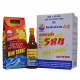 Giá Bán Nước Mắm 584 Nha Trang Chai Thủy Tinh 40 Đạm Tm40 500Ml X 6 Chai Nguyên