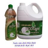 Chiết Khấu Sản Phẩm Nước Rửa Chen Ecolight 3 6L Tinh Dầu Bạc Ha