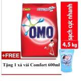 Giá Bán Omo Bột Giặt Omo Sạch Cực Nhanh 4 5Kg Tặng Xả Vải Comfort Thai 600Ml Nguyên