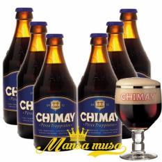 Sét 6 chai : Chimay Xanh - Bỉ, Châu Âu 9% Nhật Bản