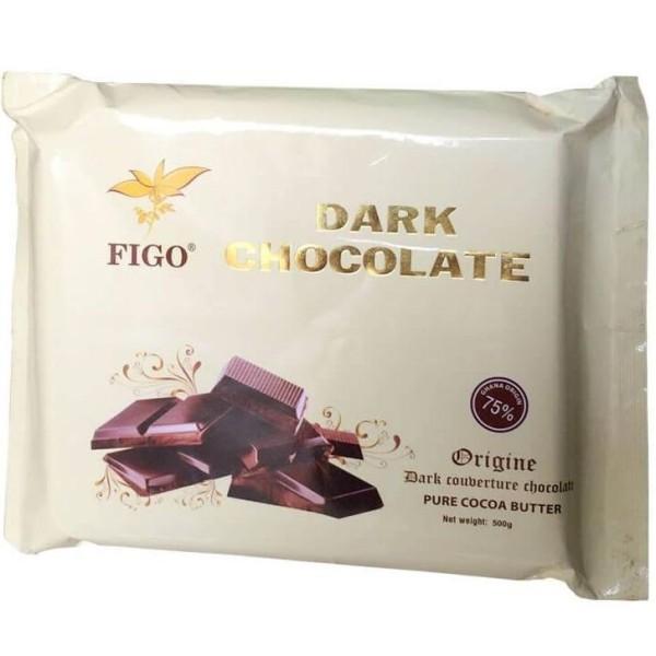 Nguyên liệu Socola làm bánh 75% cacao Figo 500gram