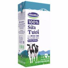 Giá Bán Thung 12 Hộp Sữa Tươi Tiệt Trung Vinamilk 100 Khong Đường 1L Hộp Giấy Có Thương Hiệu